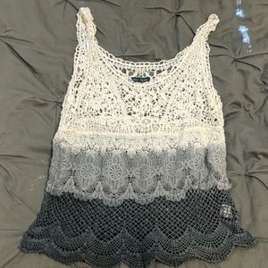 American Eagle Outfitters Tops - American Eagle crochet tank top